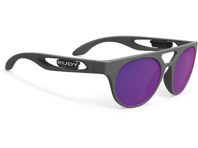 Rudy Project Fiftyone Gafas ciclismo, pyombo matte/multilaser violet